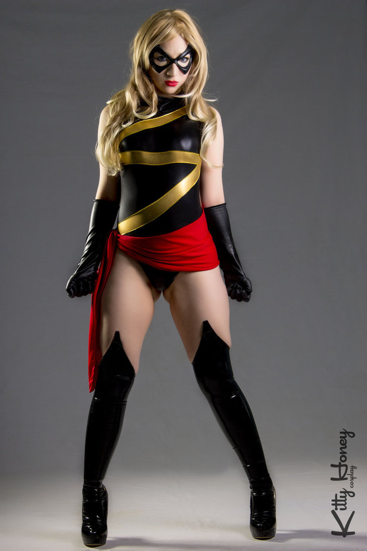 Ms.Marvel Carol Danvers Sexy Cosplay Costume